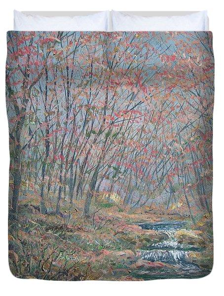Rocky Forest. Duvet Cover