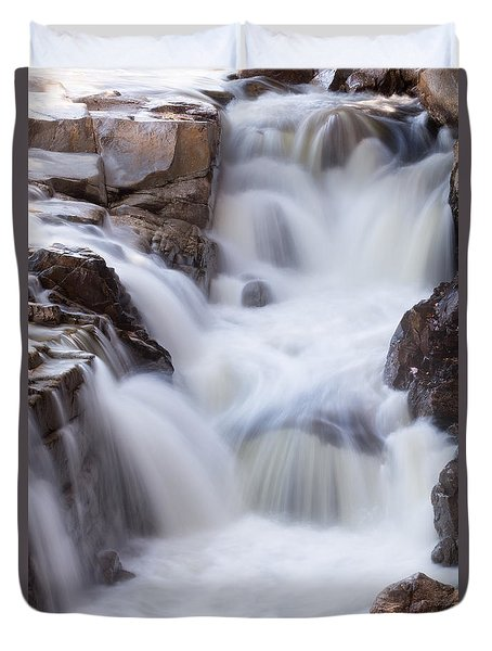 Rocky Gorge Falls Duvet Cover by Michael Hubley