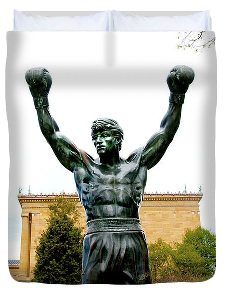 Duvet Cover featuring the photograph Rocky I by Greg Fortier
