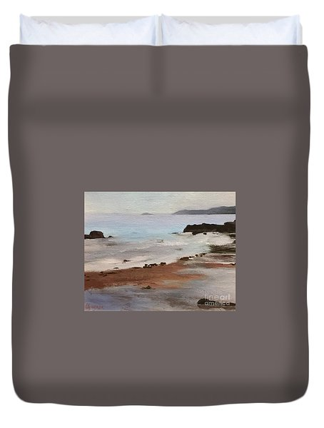 Rocky Neck Beach Duvet Cover