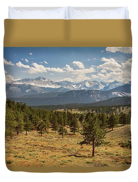 Duvet Cover featuring the photograph Rocky Mountain Afternoon High by James BO Insogna