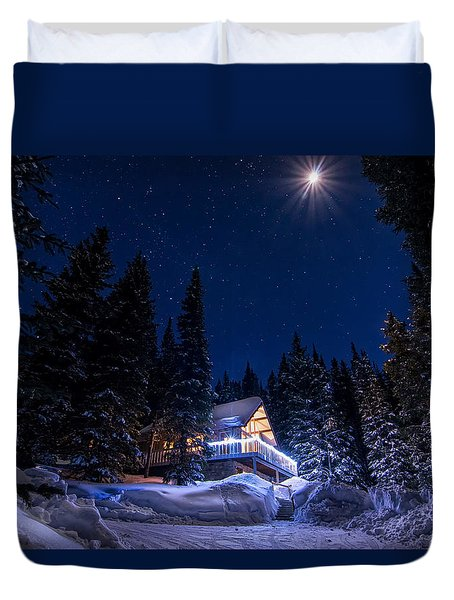 Rocky Mountain Chalet Duvet Cover