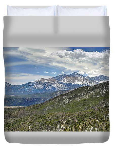 Duvet Cover featuring the photograph Rocky Mountain Cloudscape by Martin Konopacki