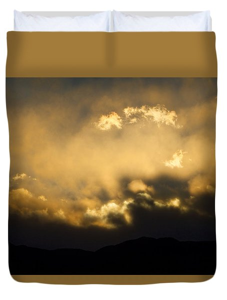 Rocky Mountain Continental Divide Sunset Duvet Cover by James BO  Insogna