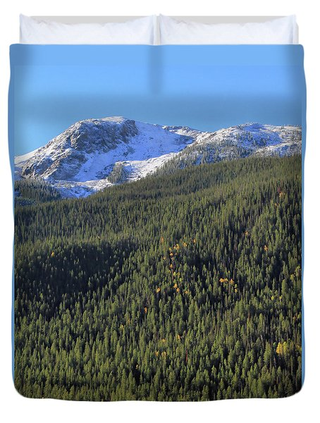 Duvet Cover featuring the photograph Rocky Mountain Evergreen Landscape by Dan Sproul