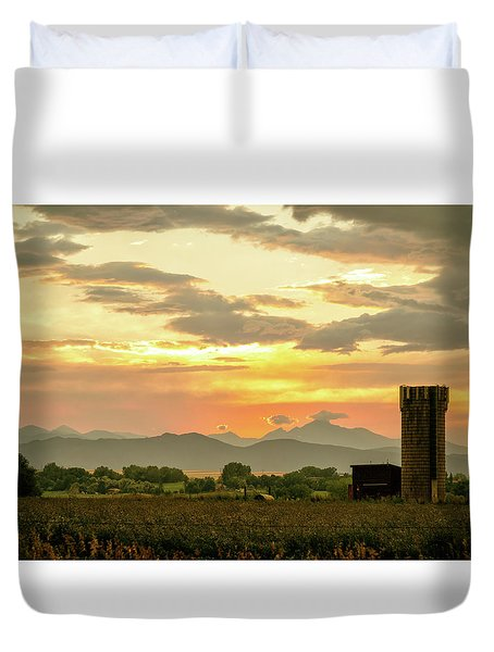 Duvet Cover featuring the photograph Rocky Mountain Front Range Country Landscape by James BO Insogna