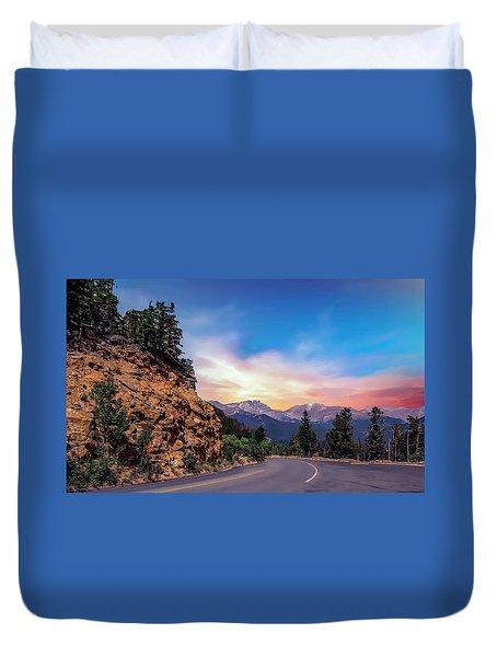 Rocky Mountain High Road Duvet Cover