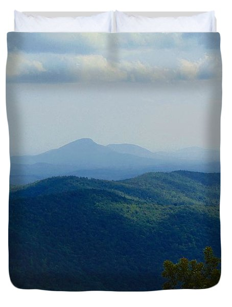 Rocky Mountain Overlook On The At Duvet Cover