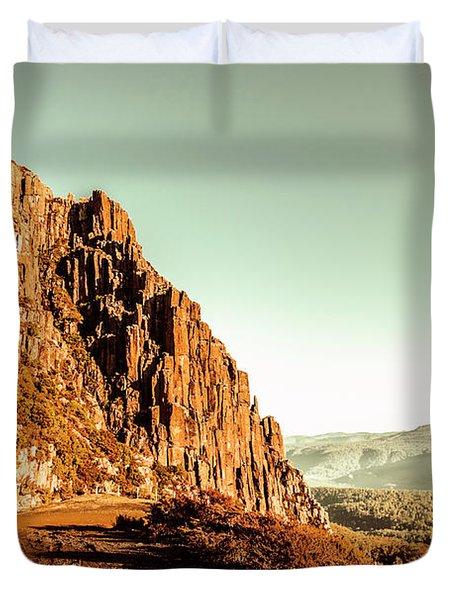 Rocky Mountain Route Duvet Cover