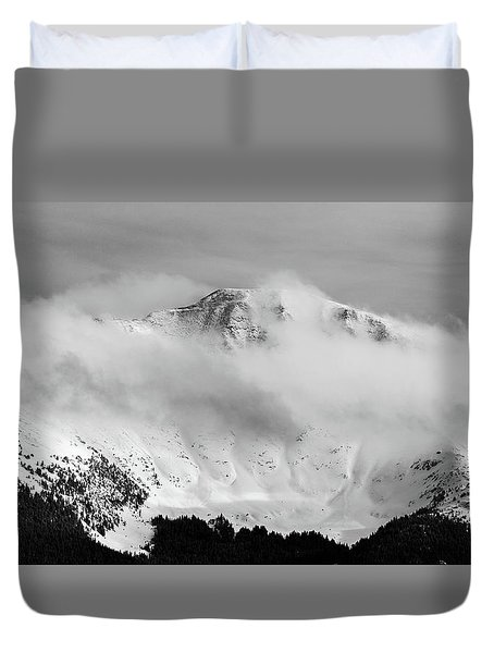 Rocky Mountain Snowy Peak Duvet Cover