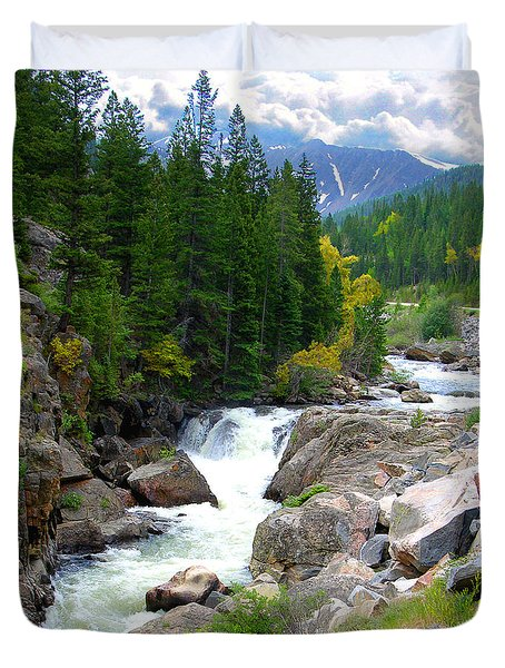 Rocky Mountain Stream Duvet Cover