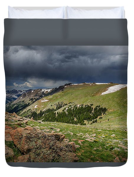 Rocky Mountain Strorm Duvet Cover