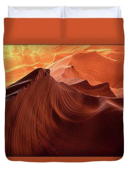 Rocky Mountain Sunrise Duvet Cover