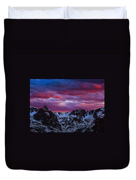 Rocky Mountain Sunset Duvet Cover
