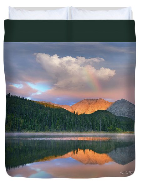 Rocky Mountain Duvet Cover by Tim Fitzharris