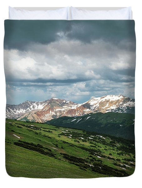 Rocky Mountain View Duvet Cover