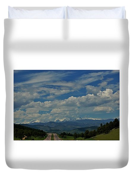 Colorado Rocky Mountain High Duvet Cover
