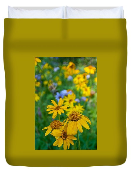 Rocky Mountain Wildflowers Duvet Cover