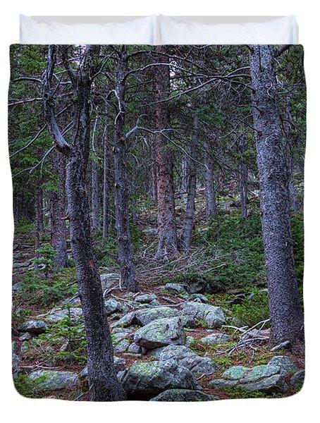 Rocky Nature Landscape Duvet Cover