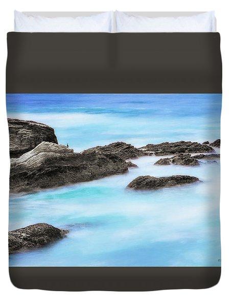 Rocky Ocean Duvet Cover