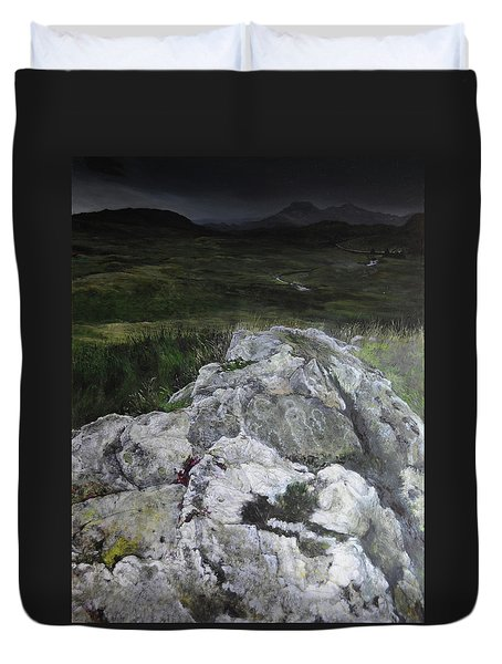 Rocky Outcrop Duvet Cover by Harry Robertson