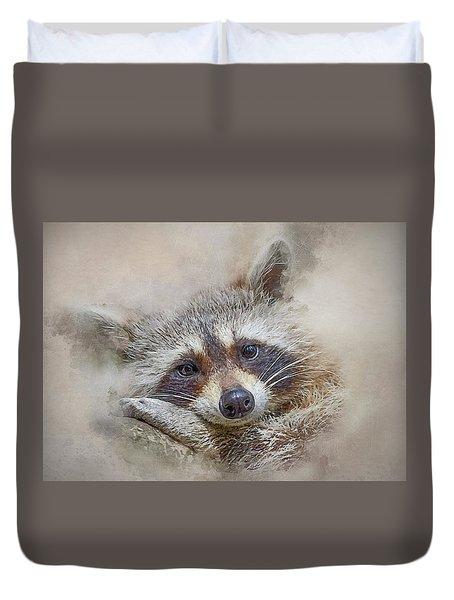 Rocky Raccoon Duvet Cover