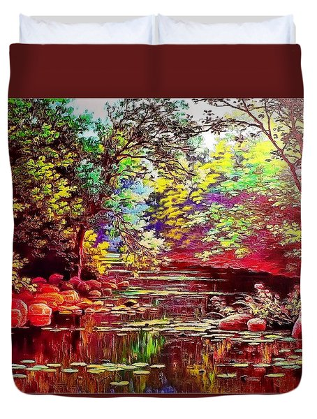 Rocky Rainbow River Duvet Cover