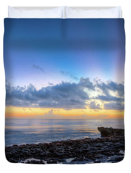 Duvet Cover featuring the photograph Rocky Reef At Low Tide by Debra and Dave Vanderlaan