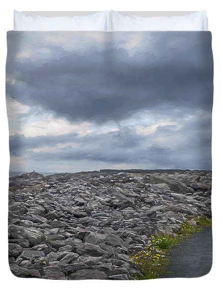 Rocky Road To The Lighthouse Duvet Cover