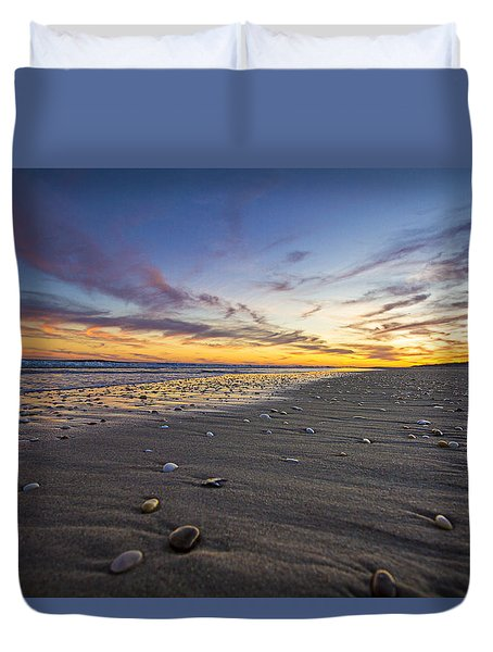 Rocky Roger's Beach Sunset Duvet Cover