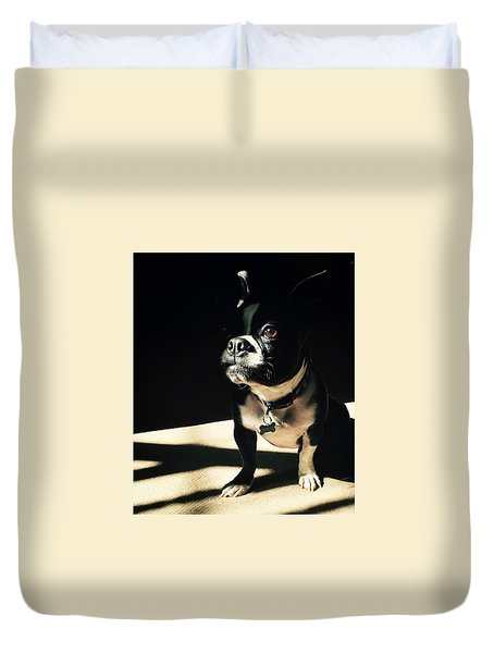 Duvet Cover featuring the photograph Rocky by Sharon Jones