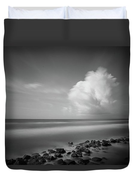 Rocky Shoreline Duvet Cover