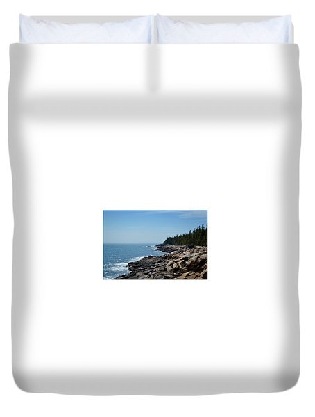Rocky Summer Shore Duvet Cover