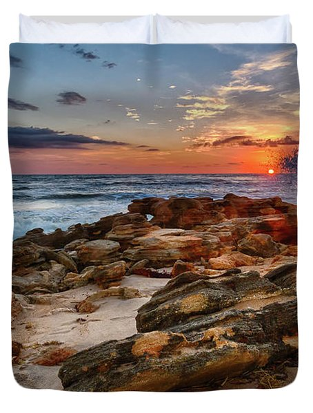Rocky Sunrise Duvet Cover