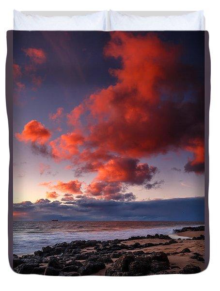 Rocky Sunset Duvet Cover
