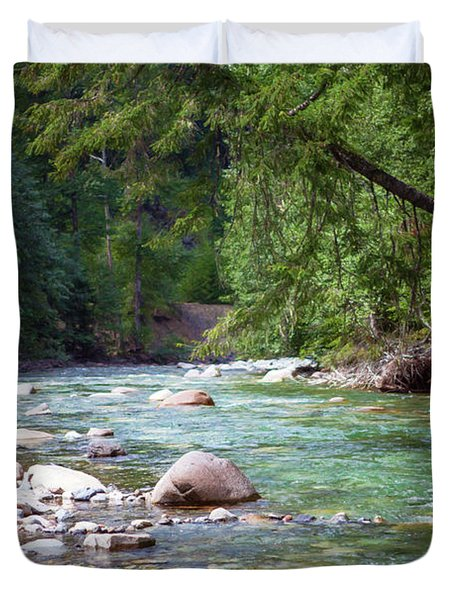 Rocky Waters In The North Cascades Landscape Photography By Omas Duvet Cover