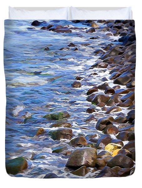 Rocky Shores Duvet Cover