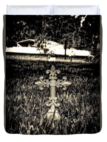 Rod Iron Cross  Duvet Cover