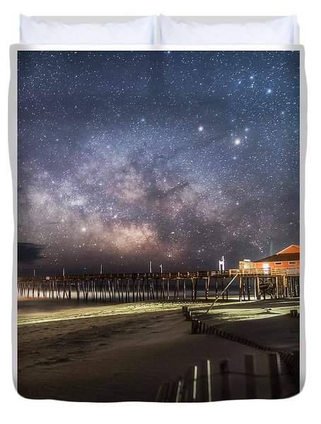 Duvet Cover featuring the photograph Rodanthe Nights by Russell Pugh