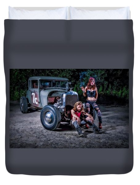 Rodders #2 Duvet Cover by Jerry Golab