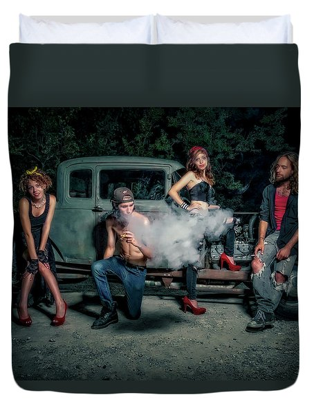 Rodders #3 Duvet Cover by Jerry Golab
