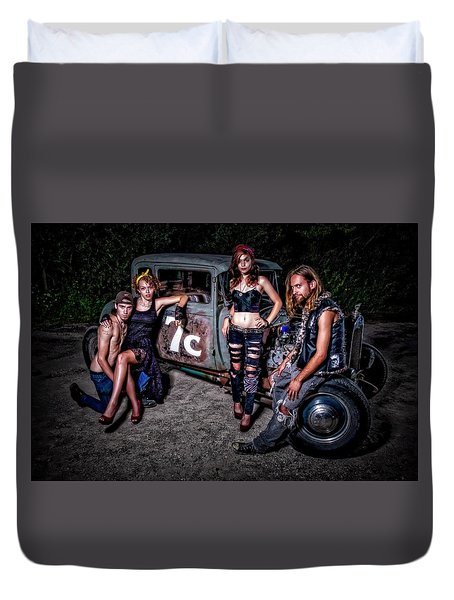 Rodders #4 Duvet Cover by Jerry Golab