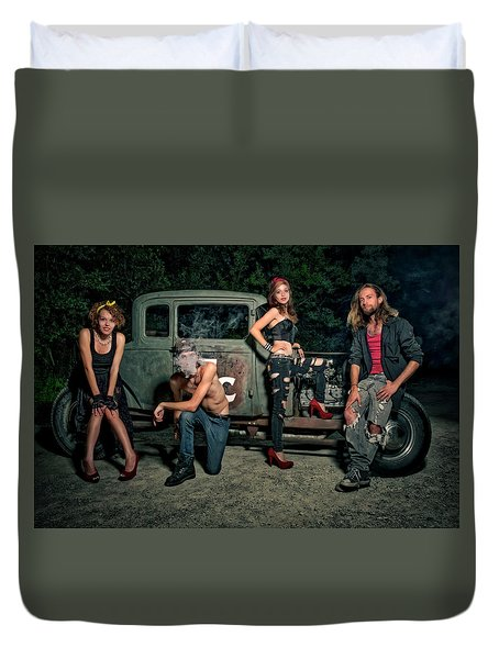 Rodders #5 Duvet Cover by Jerry Golab