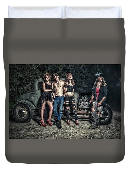 Rodders #6 Duvet Cover by Jerry Golab