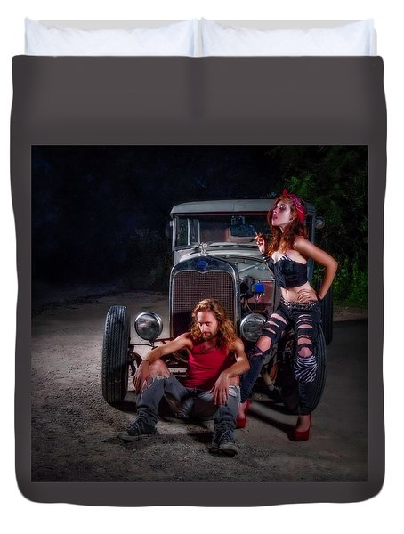 Rodders Duvet Cover by Jerry Golab