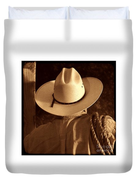 Rodeo Cowboy Duvet Cover by American West Legend By Olivier Le Queinec