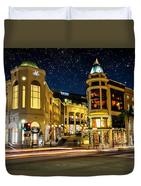 Rodeo Drive Under The Stars Duvet Cover