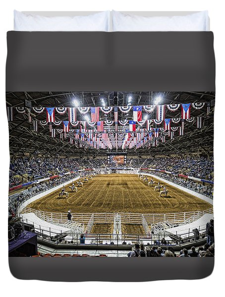 Rodeo Time In Texas Duvet Cover