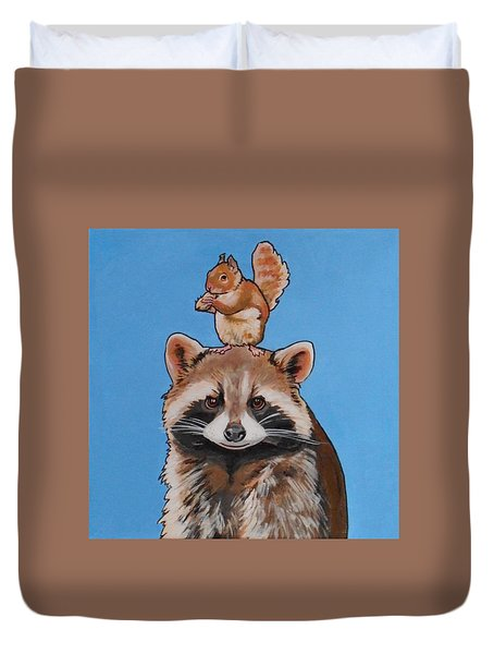 Rodney The Raccoon Duvet Cover
