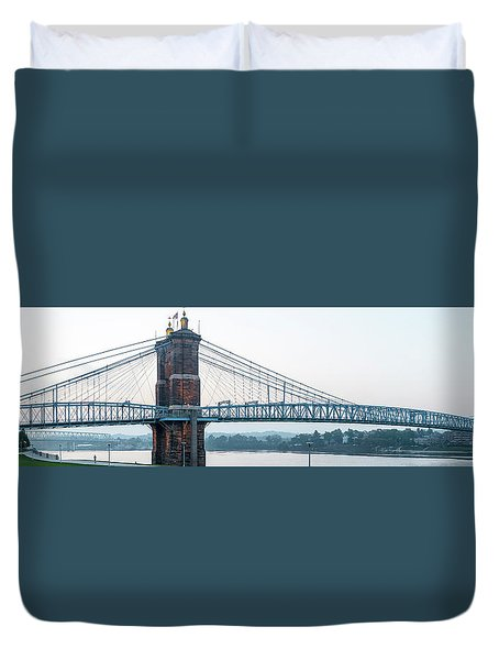 Roebling Bridge Duvet Cover